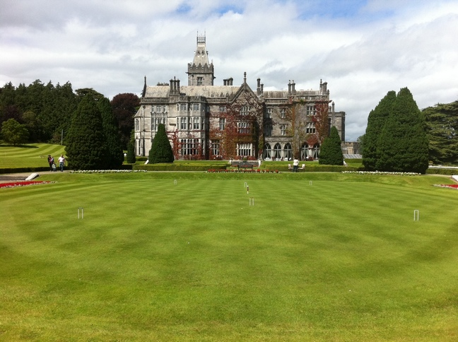 Adare Manor House and Croquet Lawn