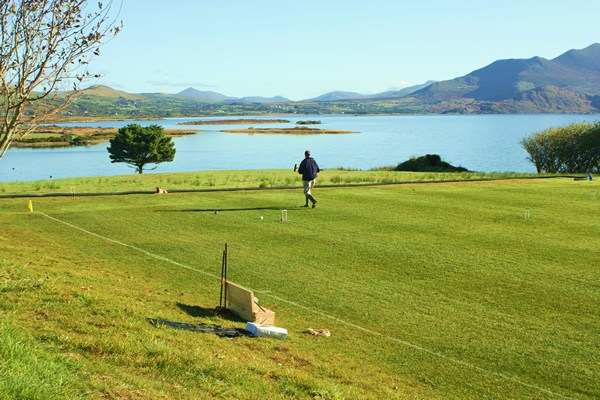 Play at Waterville Lake Croquet Tournament